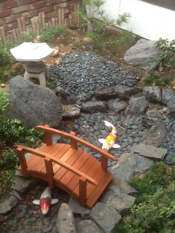 Koi Design Pond Entry Way Google Search Garden Bridge Cedar