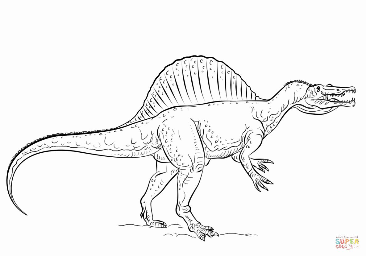 Alphabet Dinosaur Coloring Pages Lovely Dinosaur Coloring Pages Spinosaurus Dinosaur Coloring Pages Dinosaur Coloring Drawing Tutorial