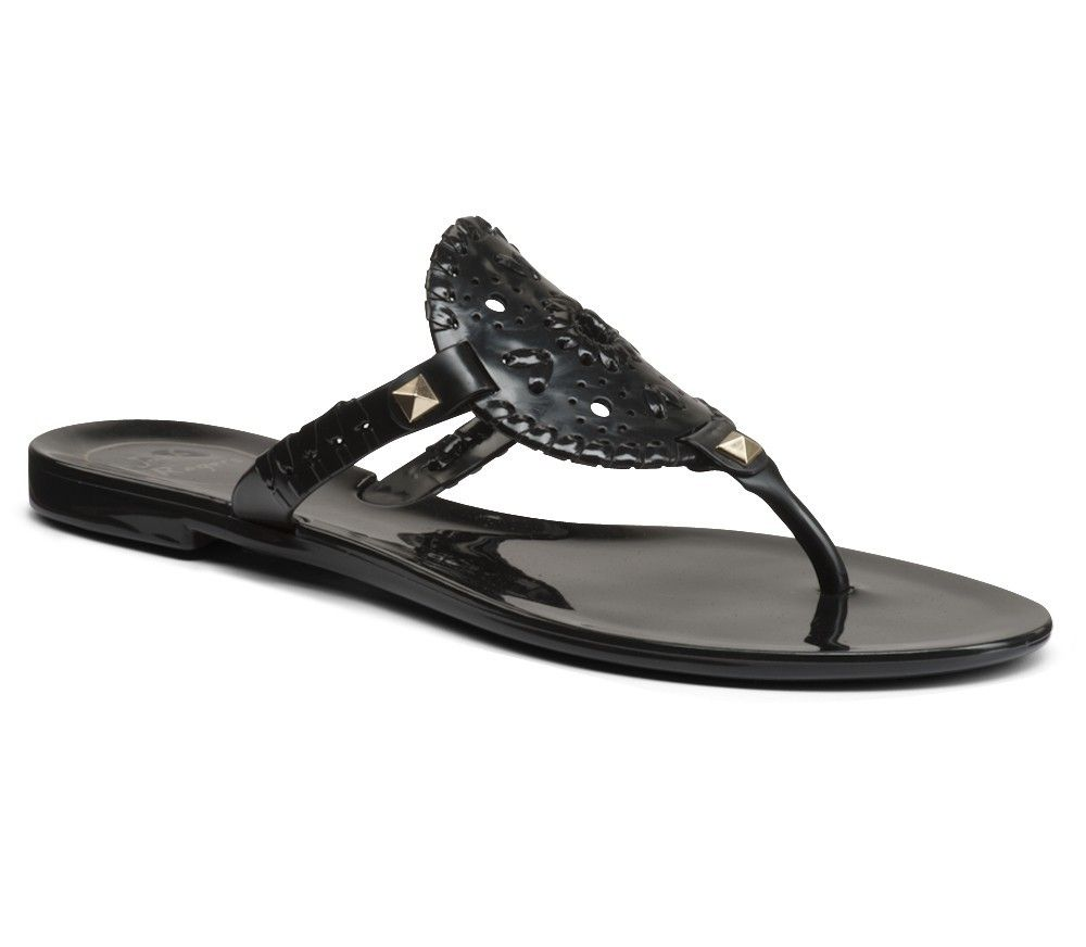 Georgica Jelly Sandal in Black by Jack Rogers - $49.00