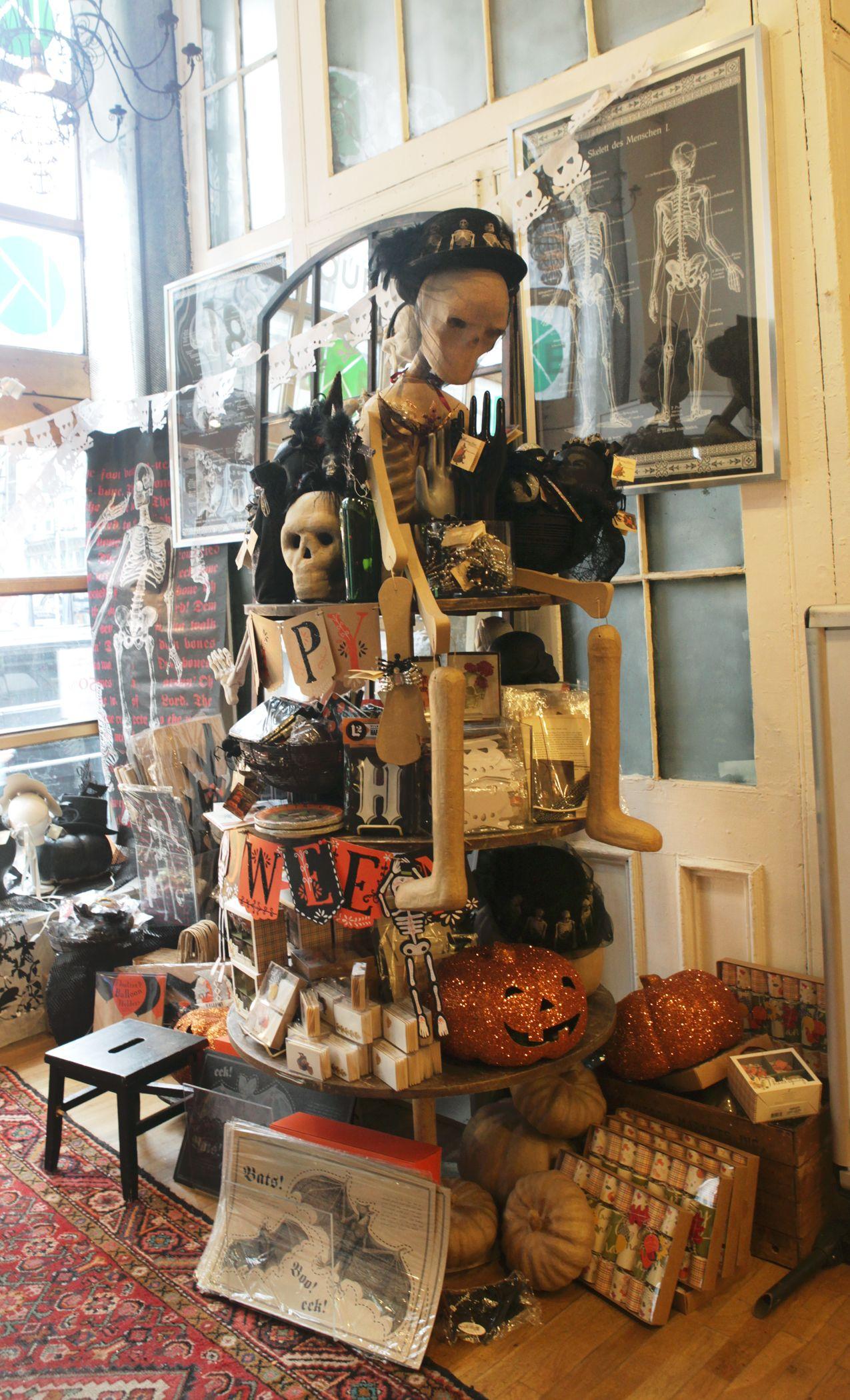 see the halloween store displays at 435 broome street. semi circular