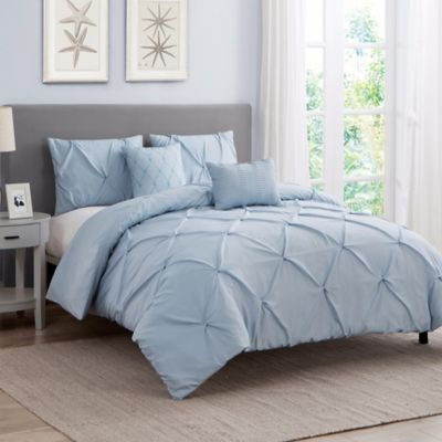 Seamlessly Blending Texture And Comfort The Cambridge Comforter Set Is An Elegant Addition To Your Sleep Ha Comforter Sets Light Blue Comforter Blue Comforter