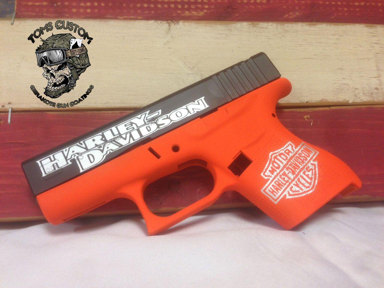 Harley Theme Glock done in Cerakote 3 colors - Toms Custom Guns ...