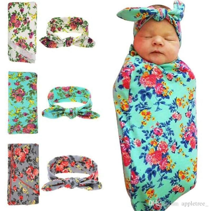 Newborn Baby Swaddle Wrap Blanket Set Infant Receiving Blankets
