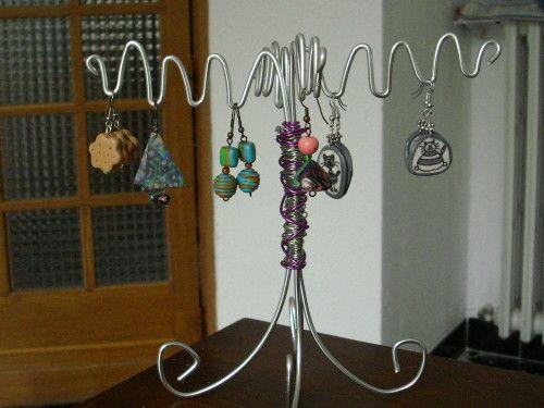 Fabriquer un presentoir pour boucles d 39 oreilles id es pr sentoirs bijoux pinterest - Presentoire a bijoux ...