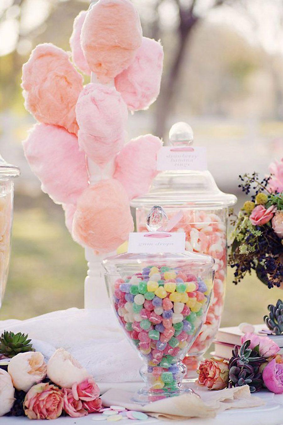 BODAS CON ALGODÓN DE AZÚCAR   Azúcar, Boda y Mesas dulces
