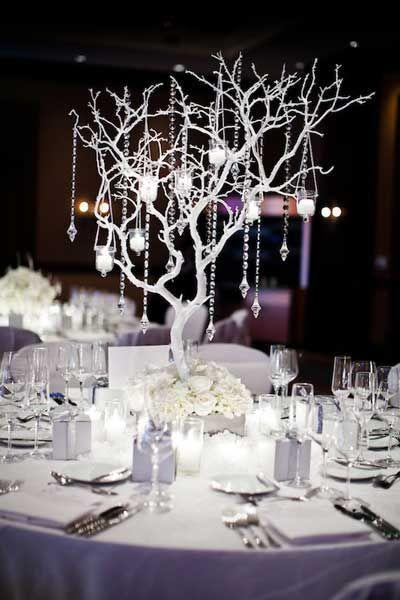 Wedding Centerpiece Ideas On A Budget Jpg 400 600 Winter Wedding Table Winter Wedding Centerpieces Winter Wedding Table Decorations