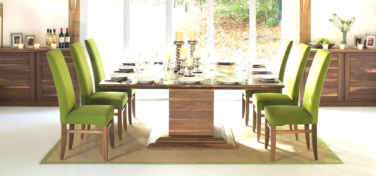 8 Seater Dining Table New Square Tables In Solid Oak Walnut