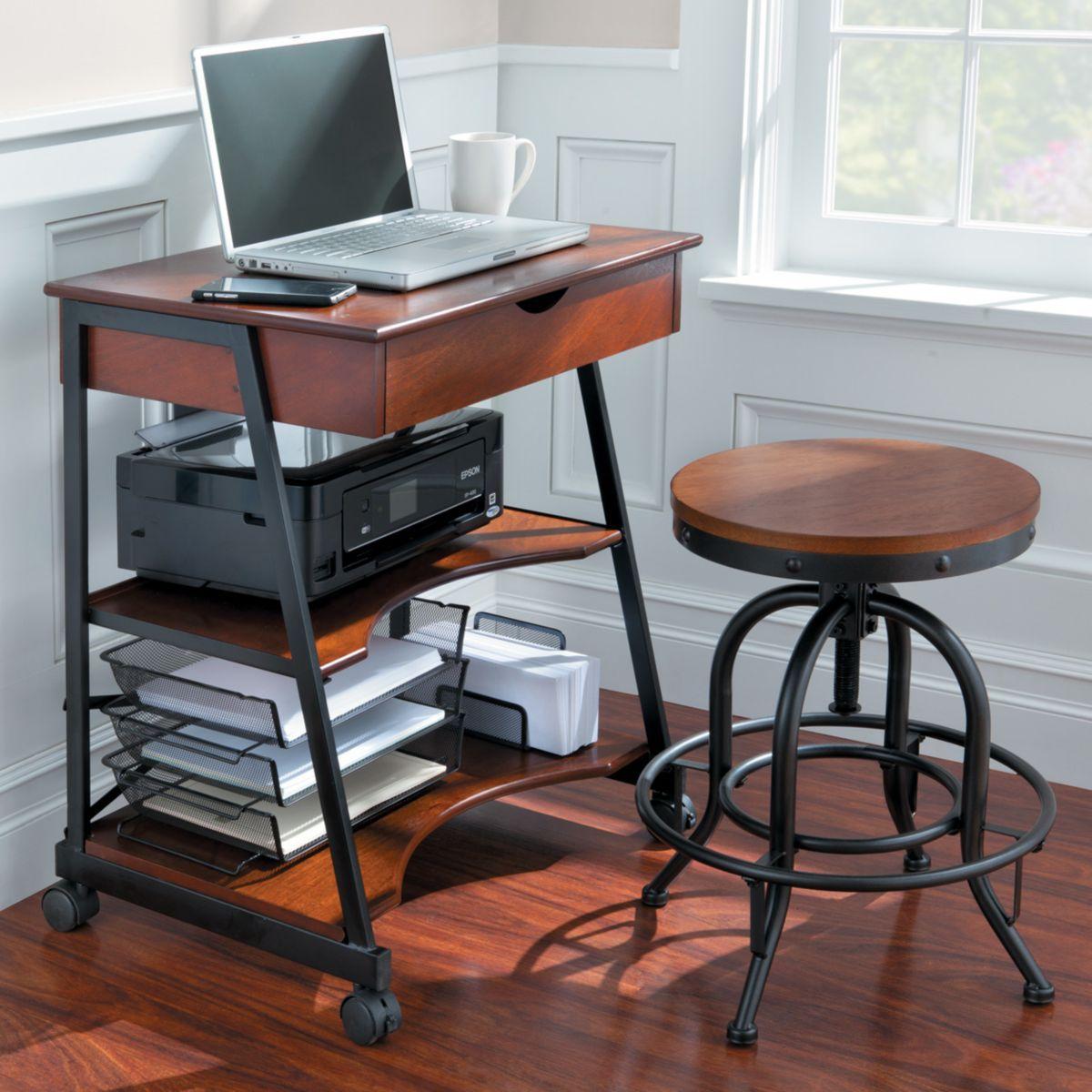 Wellesley Mobile Office Desk Home Makeovers