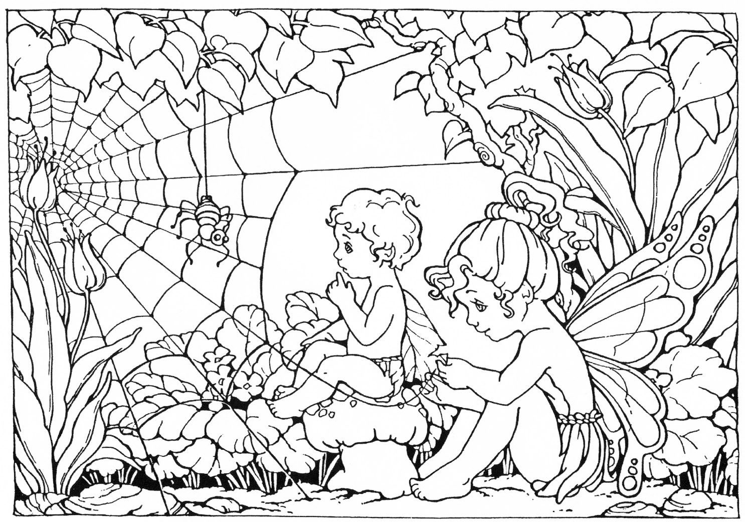Fairy coloring pages colouring pinterest fairy flower fairies