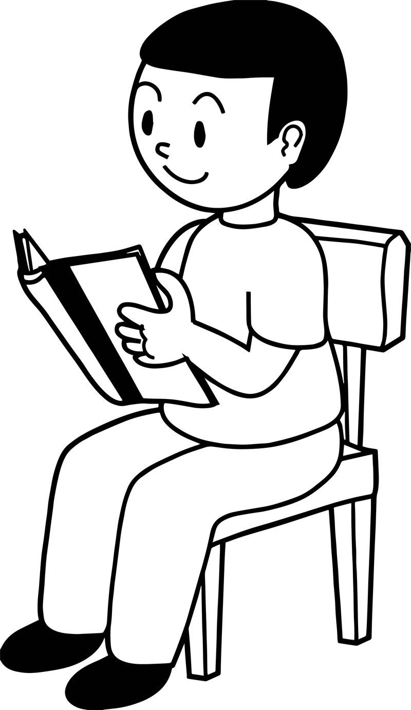 Reading Kids Book Clip Art