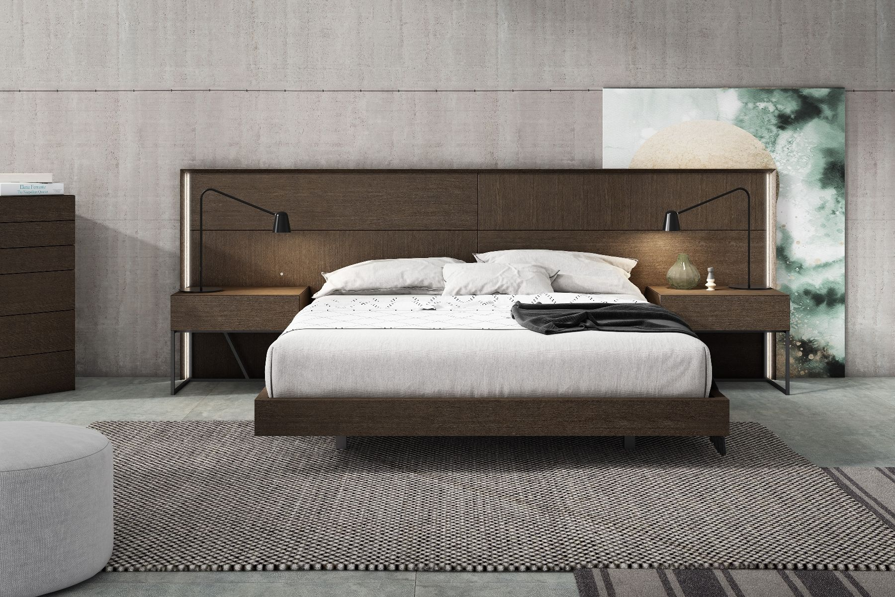 Best J M Almada Trendy Modern Low Profile Platform Bed Made In 400 x 300