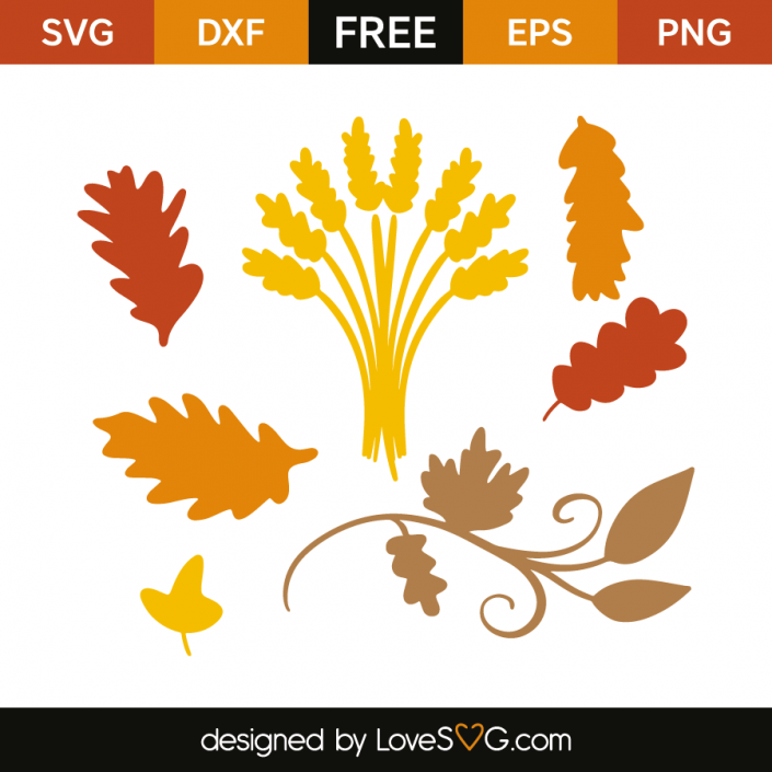 Black autumn leaves on a white background vector free