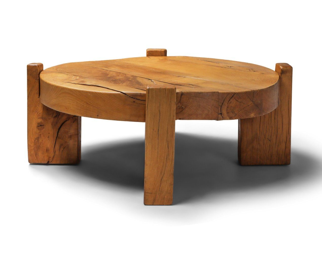 For sale solid oak round coffee table 1960s round