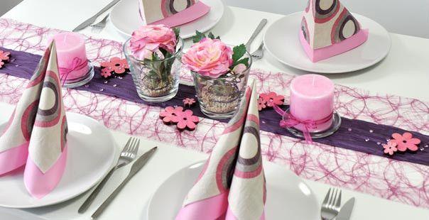 tischdeko erika aubergine tischdeko geburtstag pinterest tischdeko tischdeko shop und. Black Bedroom Furniture Sets. Home Design Ideas