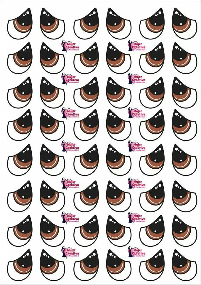 Para Pegar En Papel Adesivo Olhos Para Artesanato Molde De