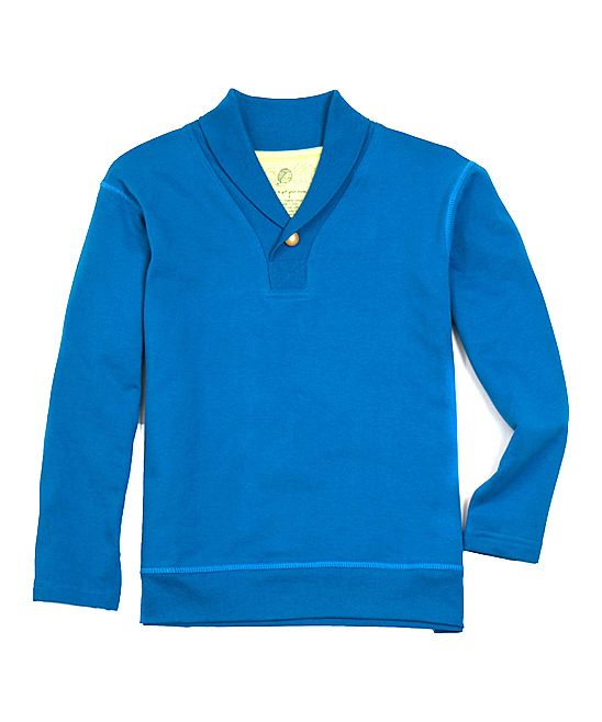 Blue Trevor Organic Pullover - Toddler & Boys | Daily deals for moms, babies and kids