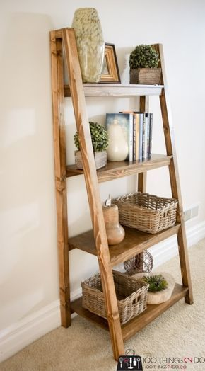 Freestanding, Angled Bookcase - free building plans!