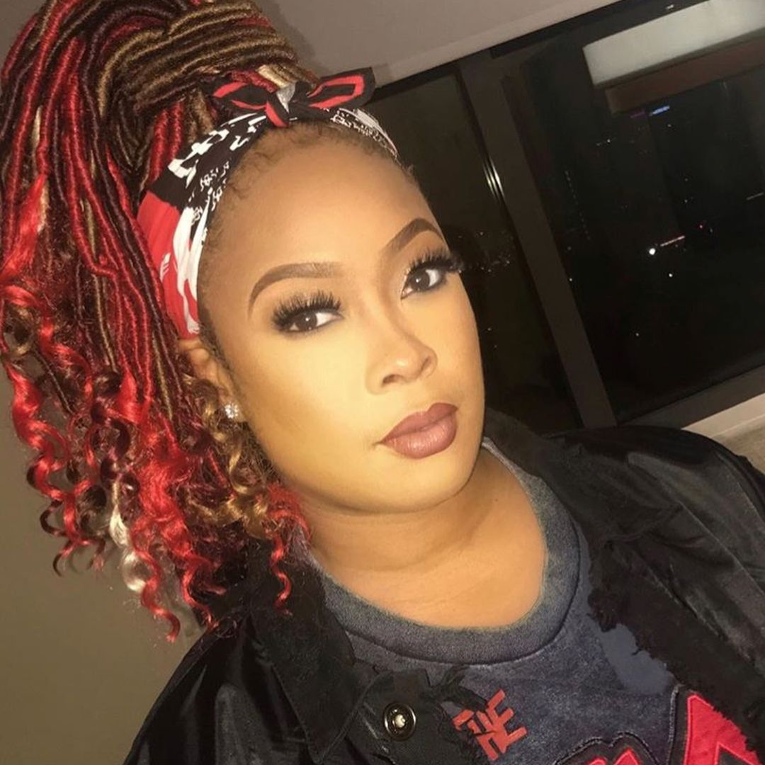 Dabrat Is Rocking These New Colorful Faux Locs Faux Locs Hairstyles Hair Styles Locs Hairstyles