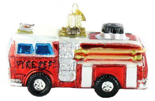 Old World Christmas Fire Truck Glass Blown Ornament \u003e\u003e\u003e Read more at