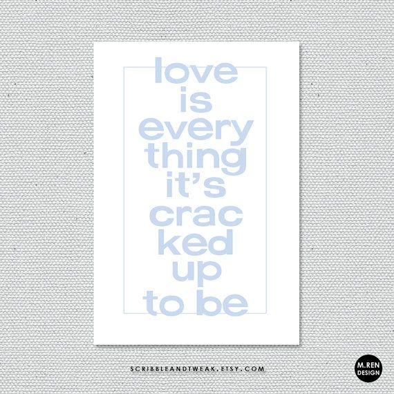love is everything. cards and prints by scribbleandtweak on Etsy