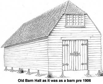 The Old Barn Hall Great Bookham Barn Drawing Old Barn Barn