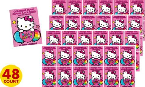 Hello Kitty Coloring Books 48ct Party City Kitty Coloring Hello Kitty Coloring Cat Coloring Book