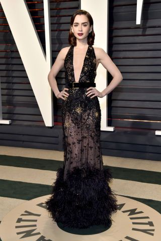 All of the best looks from 2017 Oscars after parties: Lilly Collins