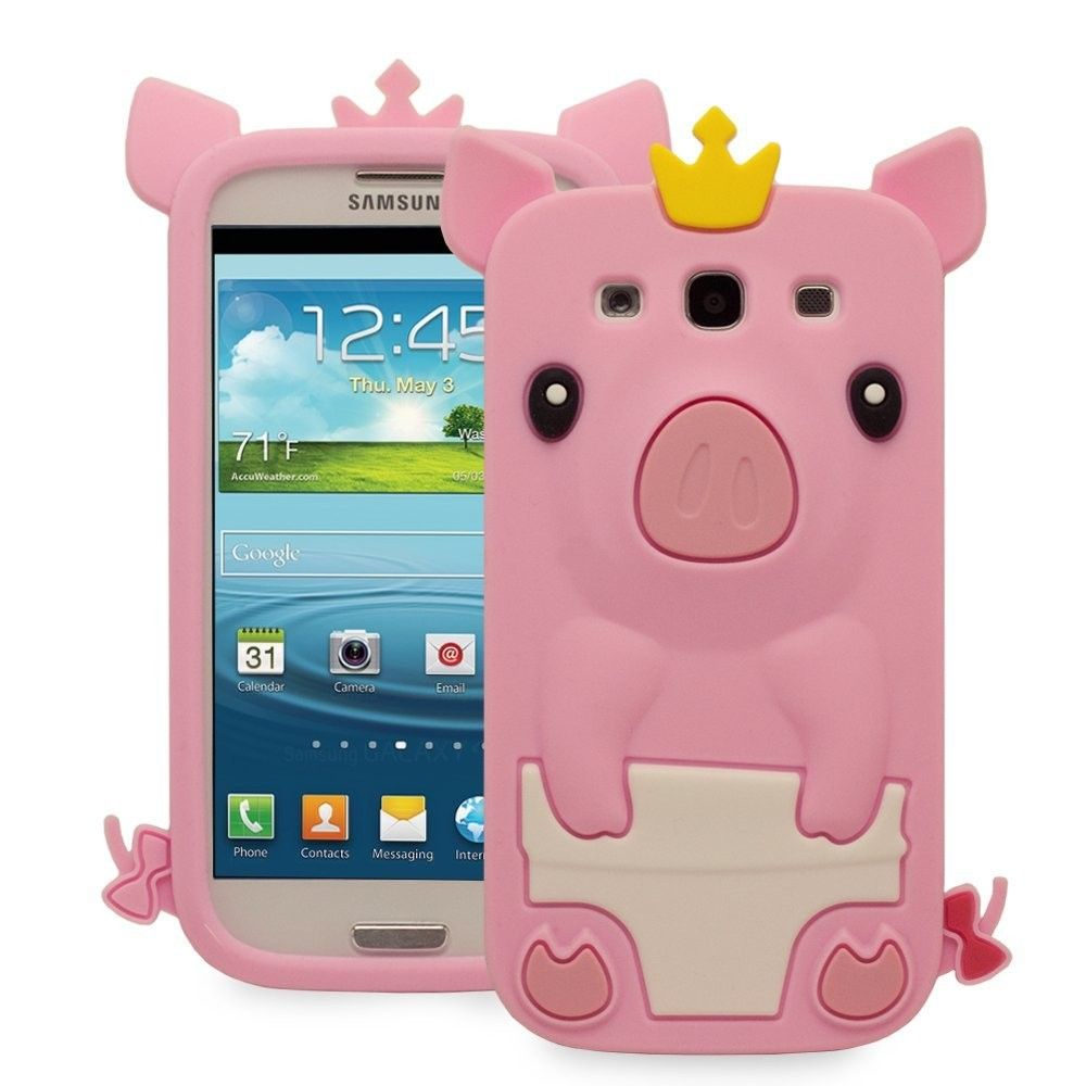 Cute 3d pig design silicone case for samsung galaxy s3 s iii cute 3d pig design silicone case for samsung galaxy s3 s iii baby pink biocorpaavc