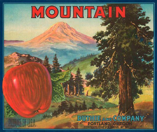 Mountain Apple Label