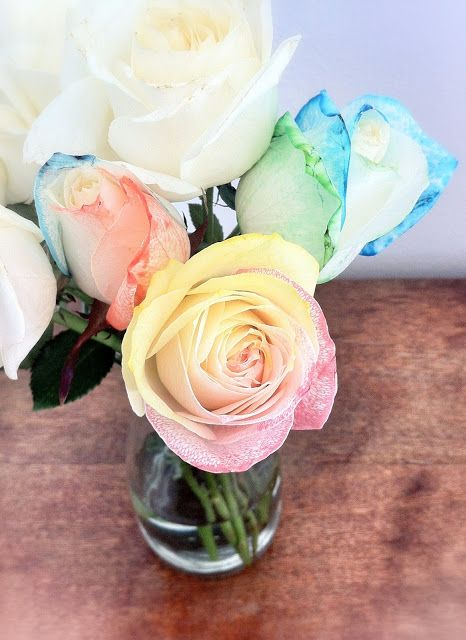 Rose Bouquet Diy Tie Dye Roses Split Steams And Place