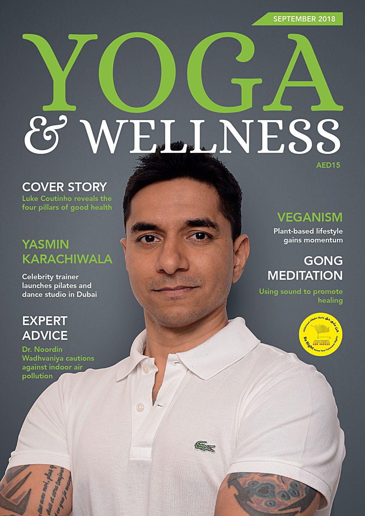 On shelves now september issue of yoga wellness