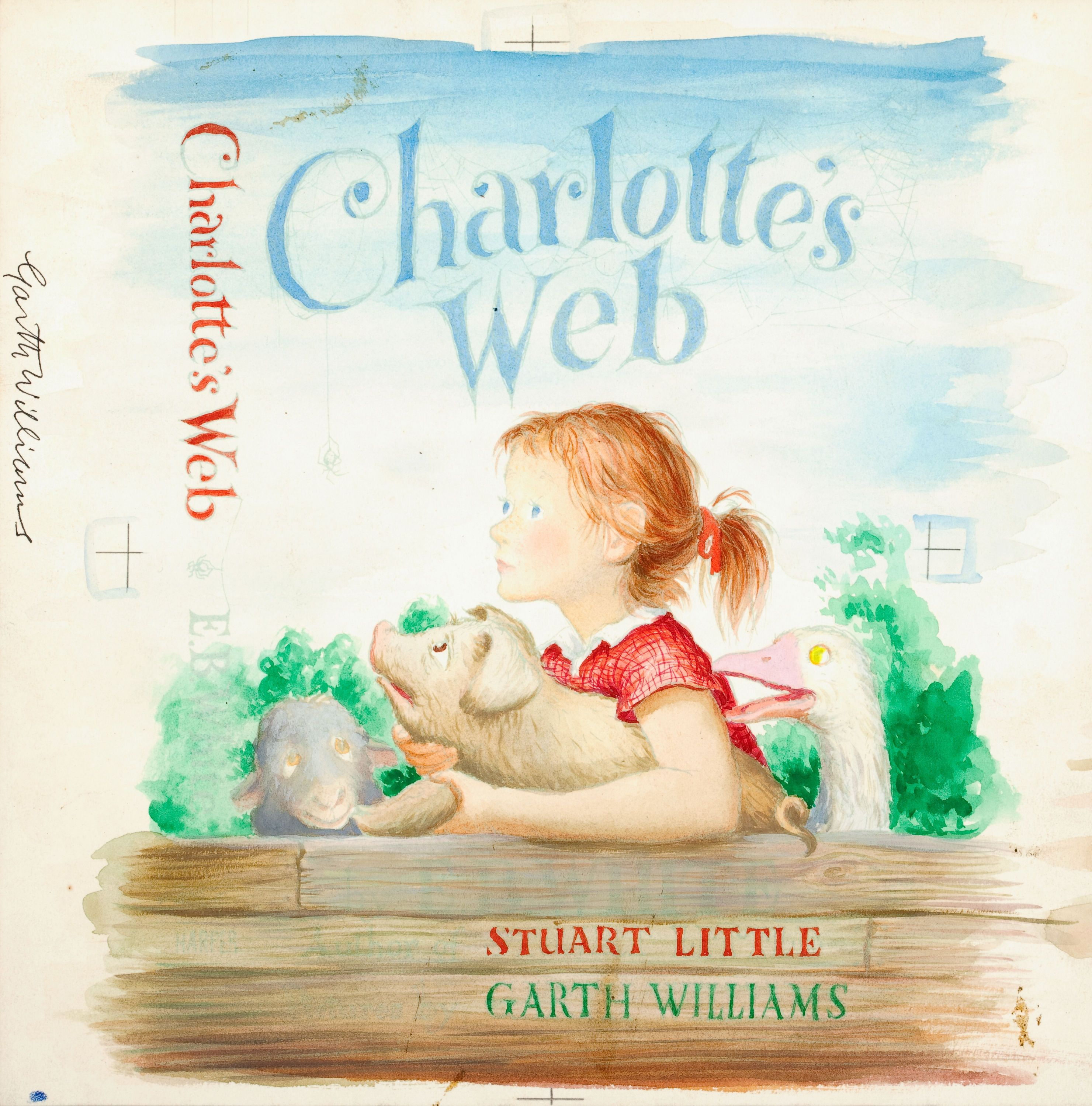 Watercolor book covers - Charlotte S Web Book Cover Art Sells For 155 350 Book Cover Art Cover Art And Book Covers