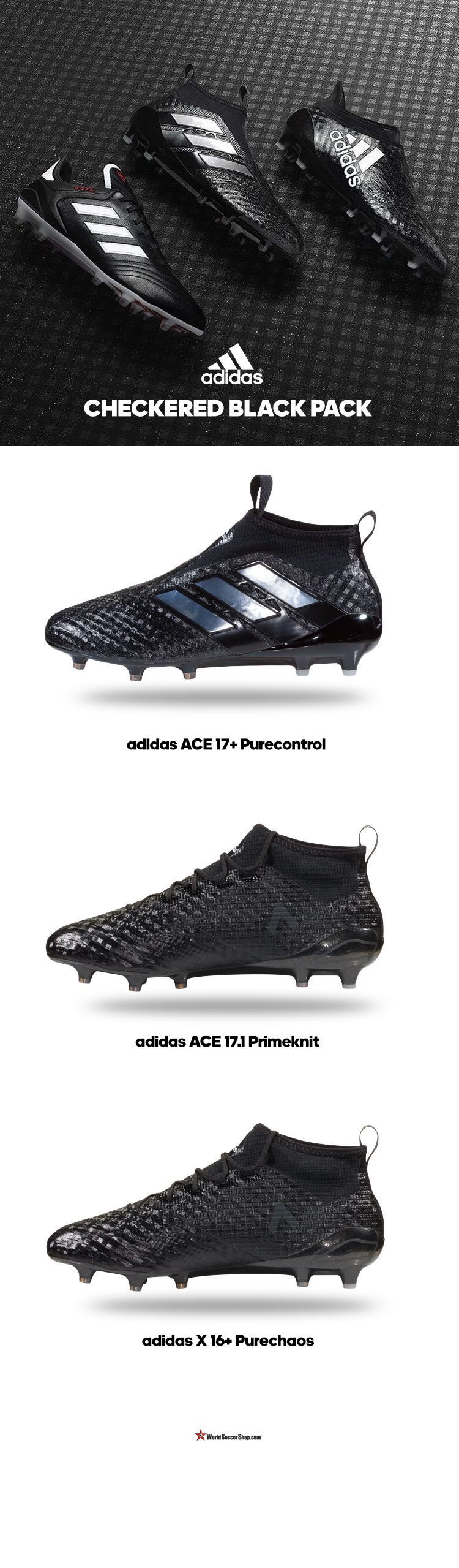 purchase cheap 75082 66fcf A blackout design for this new 2017 silo. Shop the new ACE 17 Purecontrol, ACE  17.1 Primeknit  X 16 PureChaos now at WorldSoccerShop.com Adidas Soccer