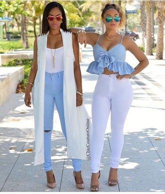 Skinny Jeans High Waisted Jeans Blue Jeans White Jeans Light Blue Jeans High Heels High Waisted High Waisted P Chic Couture Online Trendy Party Outfits Fashion