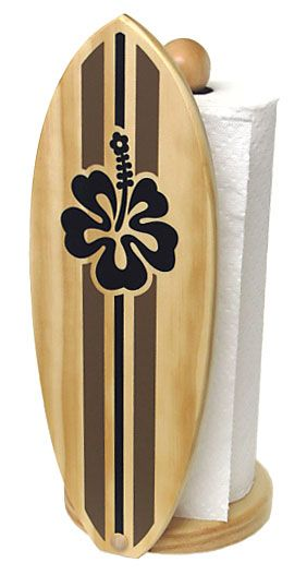 Coastal Paper Towel Holder Gorgeous Thesurfroom  Surboard Wood Paper Towel Holder  Make A House A Inspiration