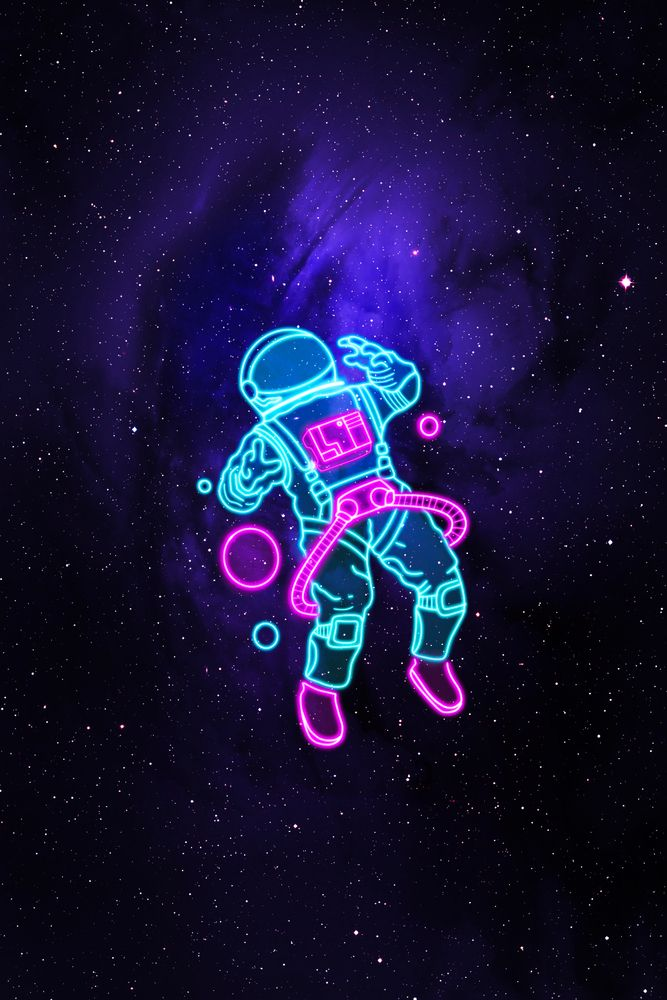 Space Astronaut Art Print by svh_visuals