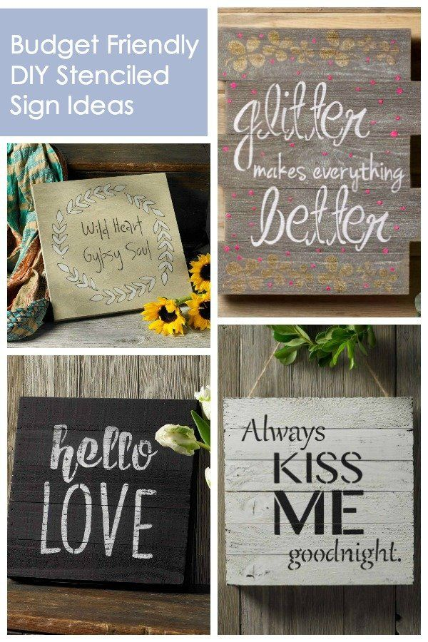 How To Make Budget Friendly Dy Stenciled Signs How To Make Diy Home Decor Signs Diy And Crafts Sewing