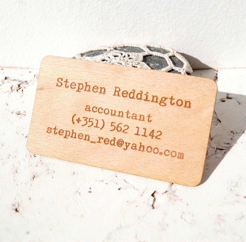 wooden veneer business cards engraved real wooden veneer business