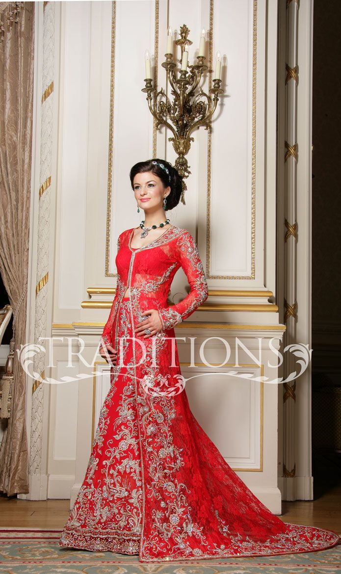 Long jacket style bridal outfit asian indian and pakistani bridal