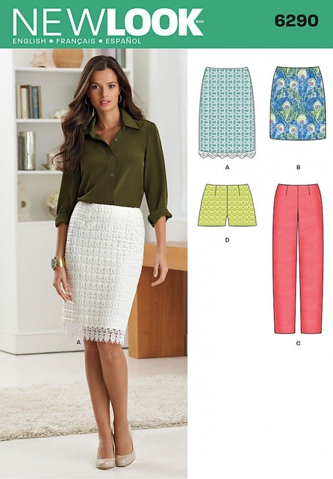 6290 New Look Skirts, Shorts and Trousers | patterns | Pinterest