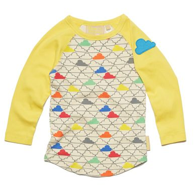 Cloudy Raglan Tee  #kids #clothes #organic #fairtrade