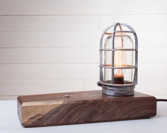 Vintage Industrial Cage Lamp - Alice Woods Art and Design ...
