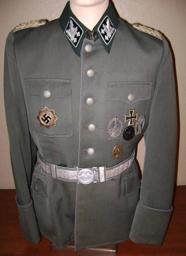 Waffen SS OberGruppenfuhrer piped tunic, un-named