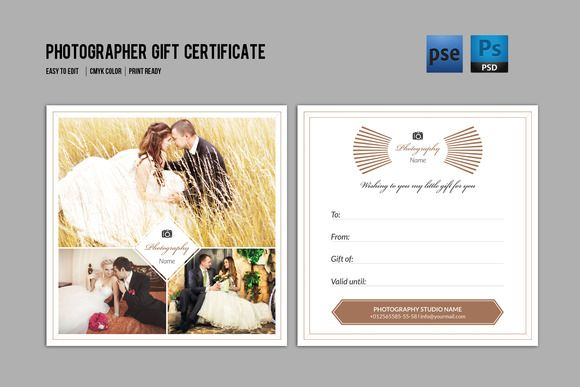 Photographer gift certificate v03 by template shop on creative photographer gift certificate v03 by template shop on creative market yelopaper Image collections