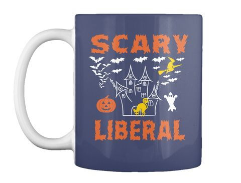 Scary Liberal Dk Navy T-Shirt Front