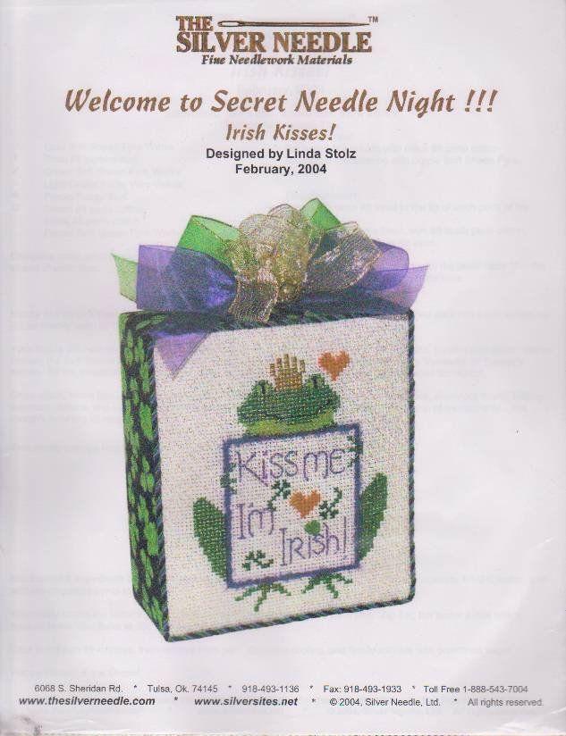 The Silver Needle Irish Kisses Linda Stolz Counted Cross Stitch
