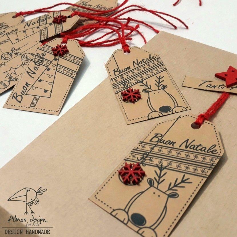 Biglietti natalizi per i vostri regali personalizzati almesdesign