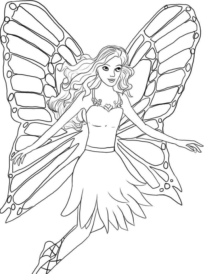 Image Result For Gambar Barbie Untuk Mewarnai Fairy Coloring