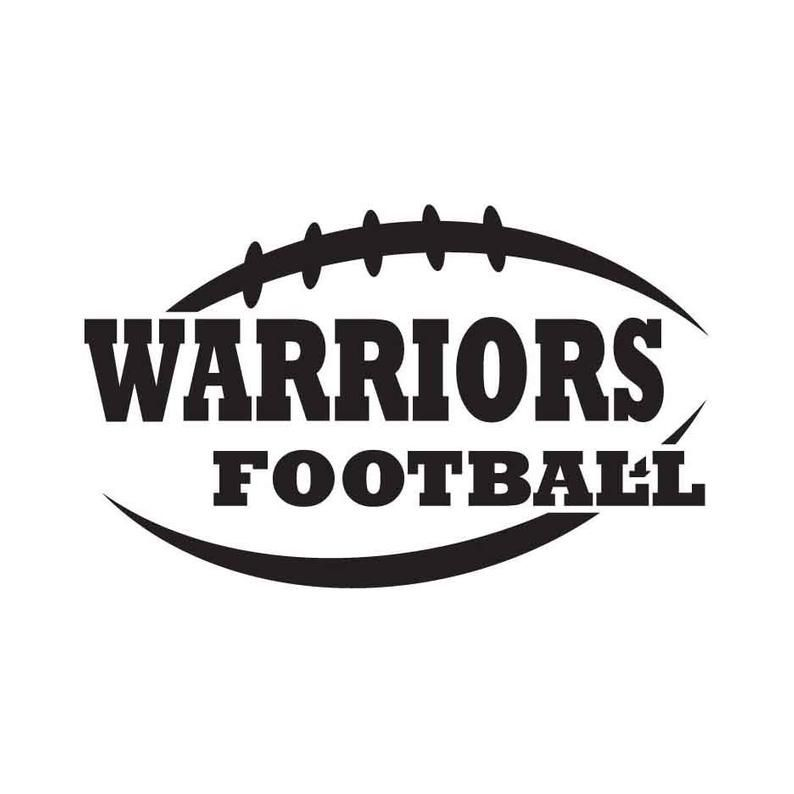 Warriors Football INSTANT DOWNLOAD 1 vector .eps, .dxf, .svg .png Vinyl Cutter Ready, T-Shirt, CNC clipart graphic 0167