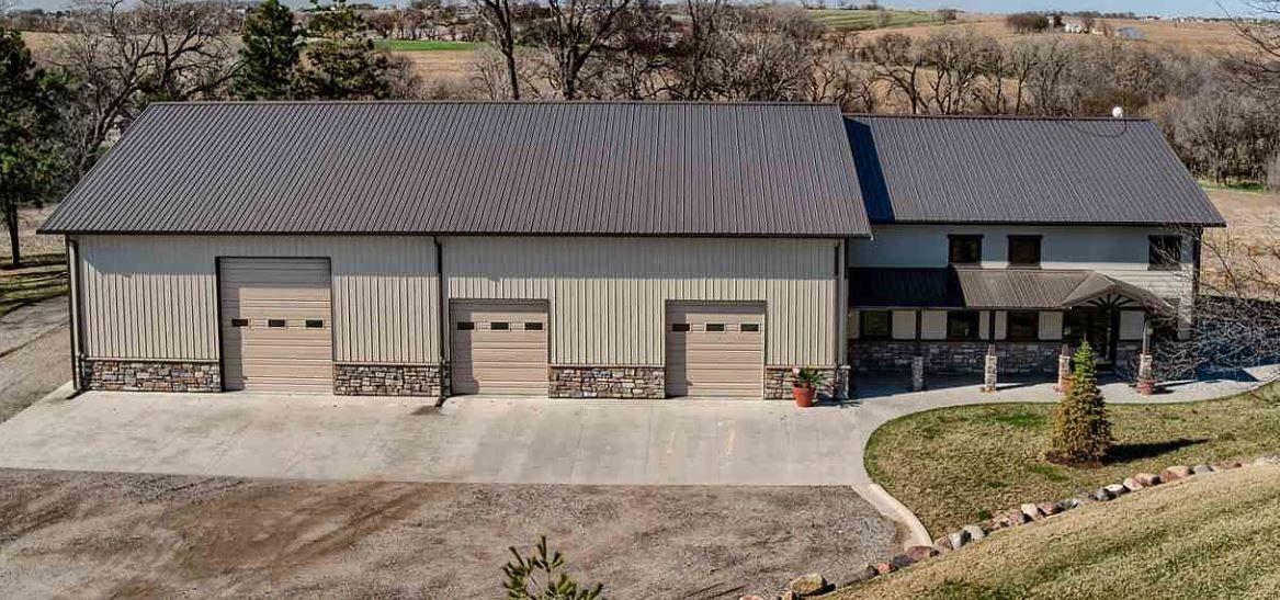 Custom Designed Barndominium With Over Sized Shop Barn House Plans Barn Style House Steel Building Homes